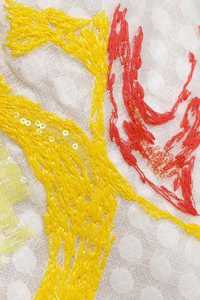 MISSONI Embellished embroidered silk maxi dress