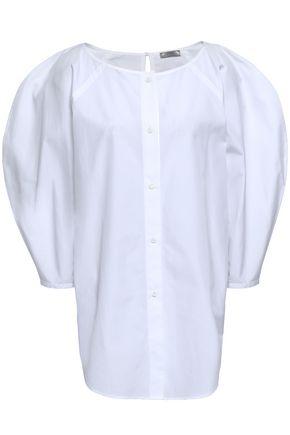 NINA RICCI Gathered cotton-poplin shirt