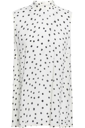 ZIMMERMANN Printed washed-crepe tank