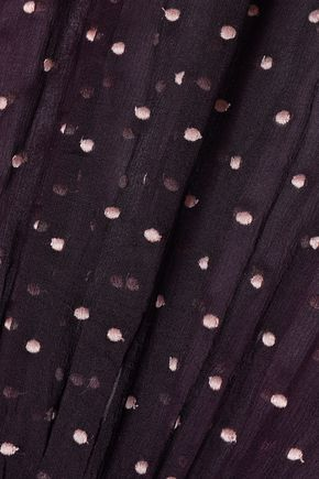 ZIMMERMANN Ruffle-trimmed Swiss-dot silk-georgette blouse