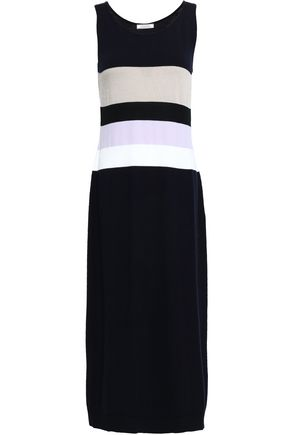 NINA RICCI Striped wool-blend midi dress