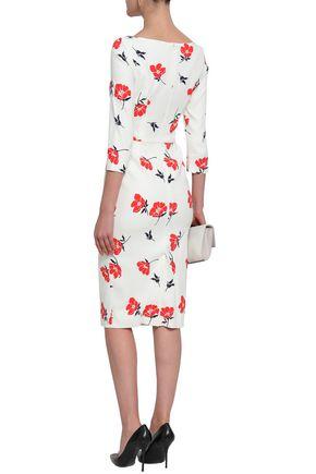 1997a26a8e ... GOAT Floral-print stretch-knit midi dress