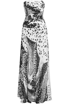 MISSONI Ruched printed silk-gauze gown