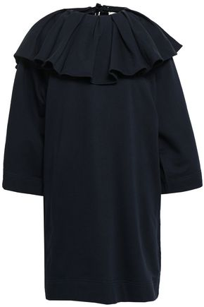 NINA RICCI Convertible French cotton-terry mini dress