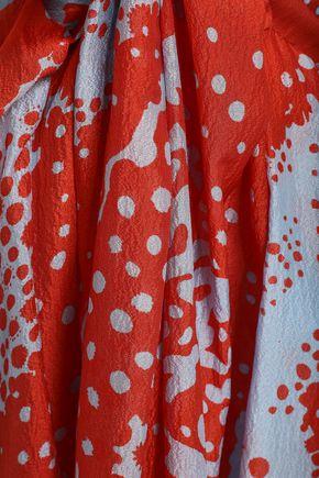MISSONI Flared printed silk-blend mini dress