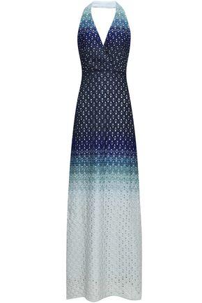 MISSONI Dégradé crochet-knit halterneck maxi dress
