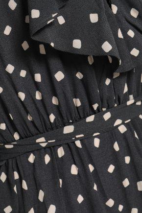 ZIMMERMANN Flared printed crepe mini dress