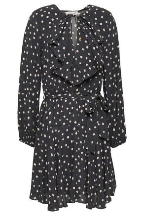 ZIMMERMANN Flared printed crepe mini dress