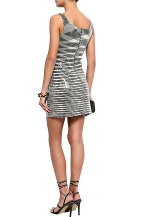 MISSONI Sequined stretch-knit mini dress