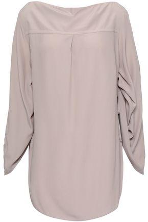 NINA RICCI Gathered crepe de chine blouse