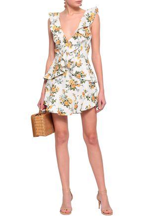 ZIMMERMANN Ruffled floral-print linen mini dress