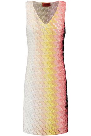 MISSONI Dégradé crochet-knit mini dress