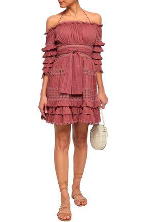63218209050 ZIMMERMANN Off-the-shoulder tiered cotton mini dress