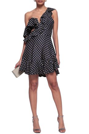 ZIMMERMANN Ruffled polka dot twill mini dress