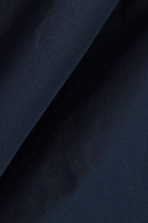 NINA RICCI Lace-up cotton-poplin tunic