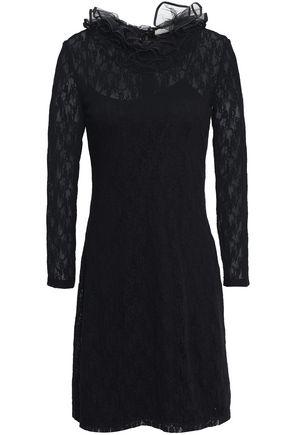 NINA RICCI Ruffled tulle and lace mini dress