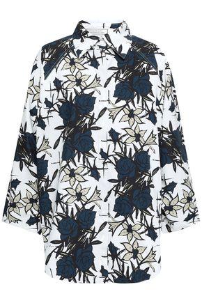 NINA RICCI Floral-print cotton-poplin shirt
