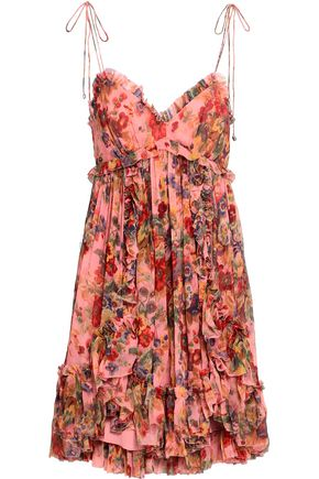 589a380c0324 ZIMMERMANN Pleated floral-print silk-georgette mini dress