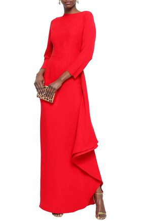 VALENTINO Draped crepe gown