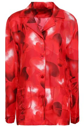 VALENTINO GARAVANI Printed silk-satin shirt