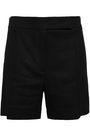 NINA RICCI Linen and wool-blend twill shorts