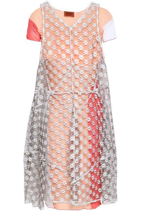 MISSONI Embroidered mesh dress