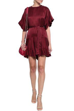 ZIMMERMANN Fluted silk-satin mini dress