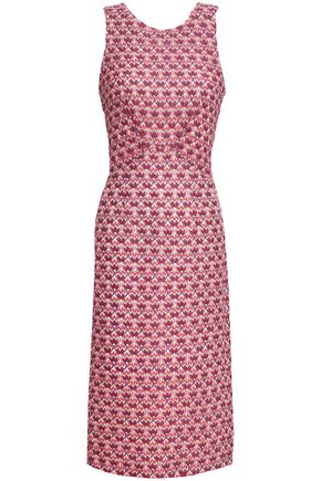 MISSONI Crochet-knit midi dress