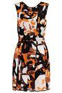 MISSONI Pleated printed silk-blend gauze mini dress