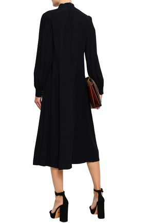 ZIMMERMANN Satin-crepe midi shirt dress