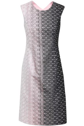 MISSONI Dégradé-paneled crochet-knit dress