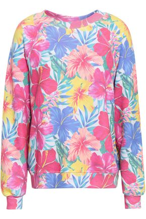 WILDFOX Floral-print cotton-blend jersey sweatshirt