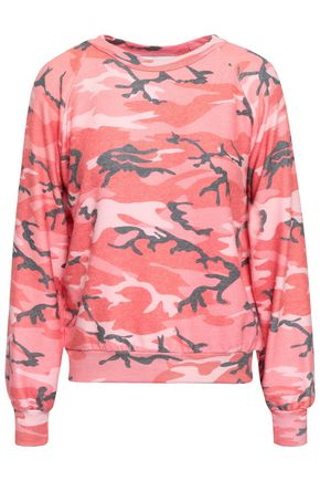 WILDFOX Stretch-jersey printed sweatshirt