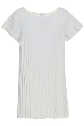 ZIMMERMANN Pleated crepe de chine top