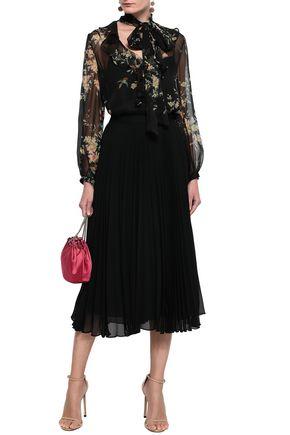 ZIMMERMANN Pussy-bow floral-print silk-chiffon blouse
