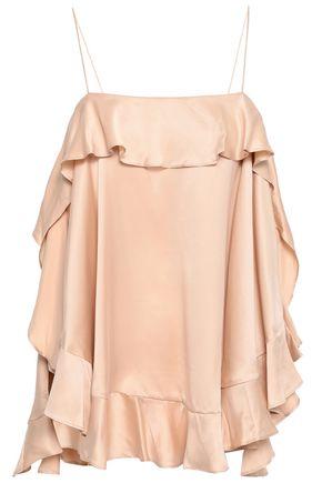 ZIMMERMANN Ruffled silk-satin camisole