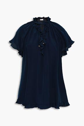 ZIMMERMANN Floral-print silk blouse