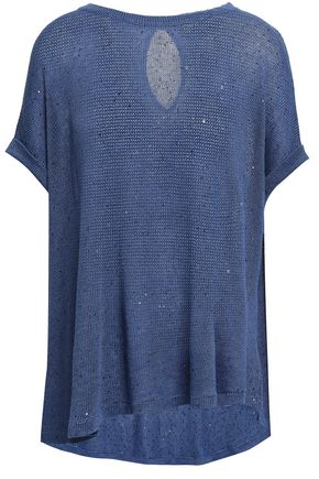BRUNELLO CUCINELLI Linen and silk-blend sweater