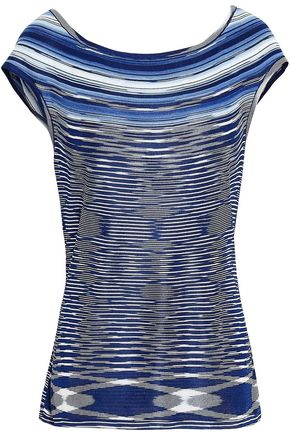 MISSONI Marled stretch-knit top