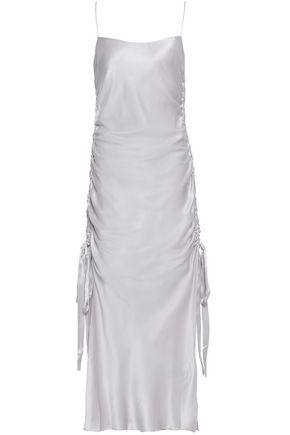 ZIMMERMANN Ruched washed-silk midi dress