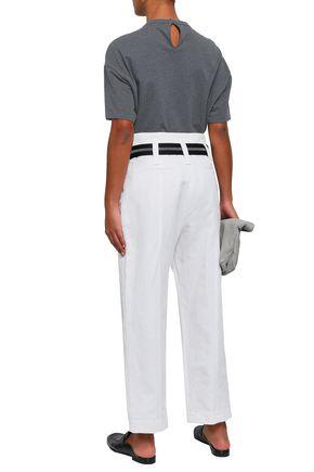 BRUNELLO CUCINELLI Appliquéd printed stretch-cotton jersey T-shirt
