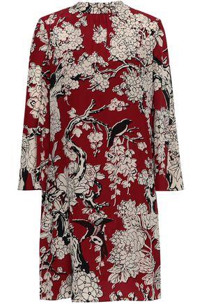 VALENTINO GARAVANI Floral-print silk crepe de chine dress