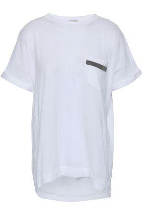 BRUNELLO CUCINELLI Bead-embellished cotton T-shirt