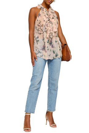 8e7478634681e ZIMMERMANN Maples Ruffle floral-print silk-georgette blouse