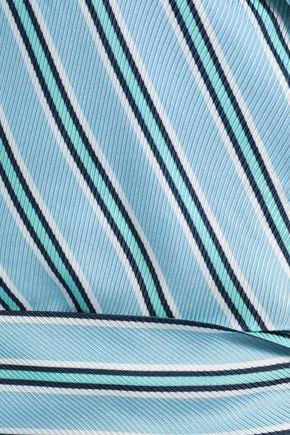ZIMMERMANN Striped twill wrap top