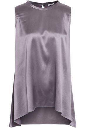 BRUNELLO CUCINELLI Stretch-silk satin blouse