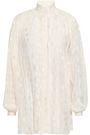 ZIMMERMANN Rife pleated polka-dot chiffon blouse