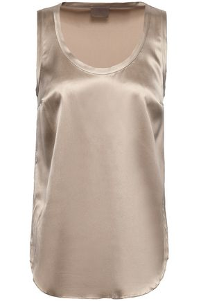 BRUNELLO CUCINELLI Stretch-silk satin tank