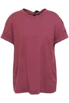 BRUNELLO CUCINELLI Tie-detailed cotton-jersey T-shirt