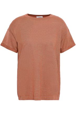 BRUNELLO CUCINELLI Metallic cashmere-blend T-shirt